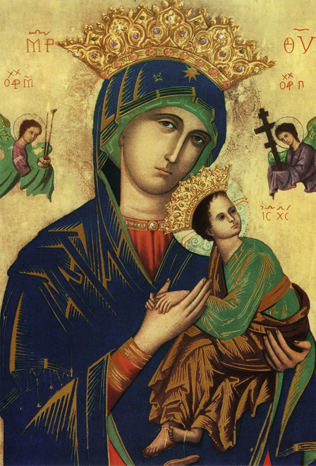 Mother of Perpetual Help Indoor Outdoor Aluminum Print