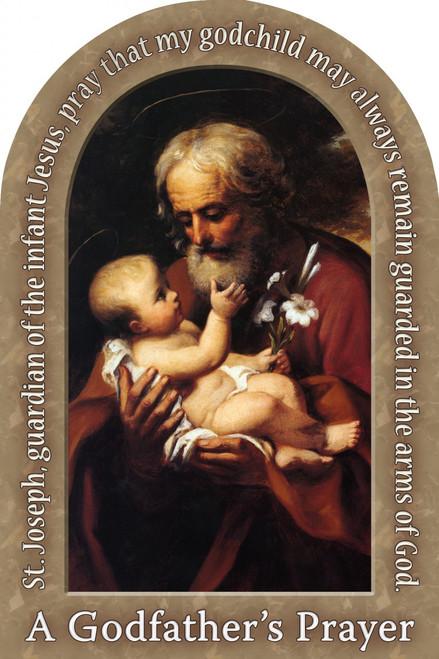 St. Joseph (Older) Godfather's Prayer Arched Magnet