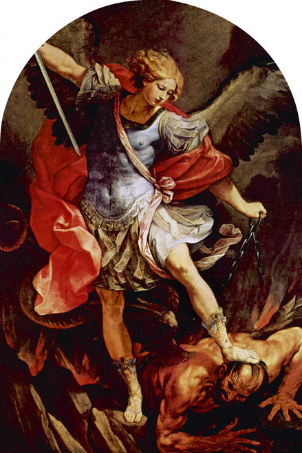 St. Michael the Archangel Arched Magnet