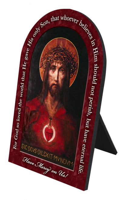 For God So Loved The World Prayer Arched Desk Plaque