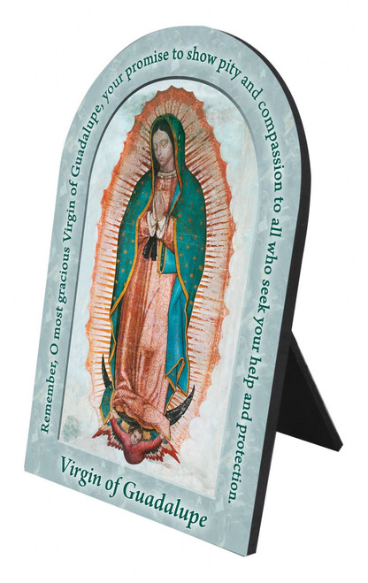 Our Lady of Guadalupe Prayer Arched Desk Plaque