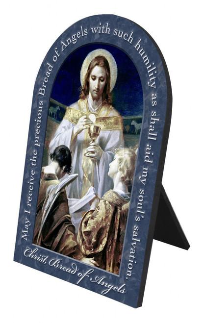 Christ, Bread of Angels Prayer Arched Desk Plaque