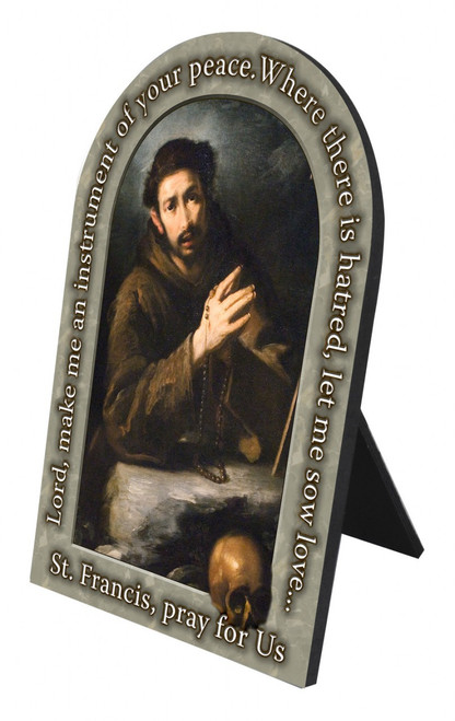 St. Francis of Assisi Prayer Arched Desk Plaque