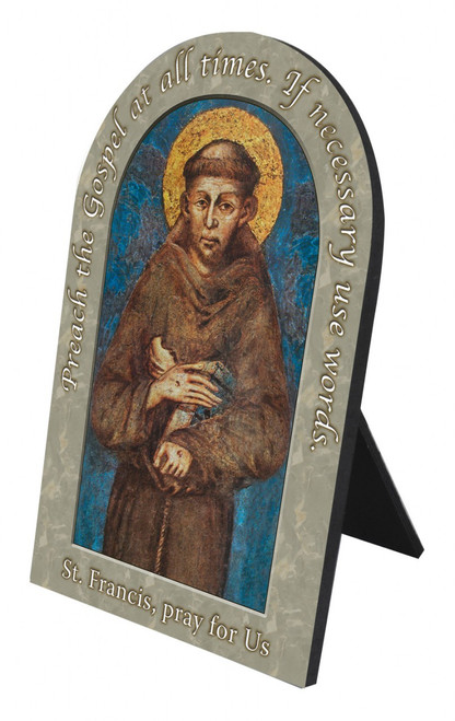 St. Francis Prayer Arched Desk Plaque