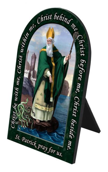 St. Patrick Prayer Arched Desk Plaque