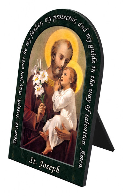 St. Joseph (Younger) Prayer Arched Desk Plaque