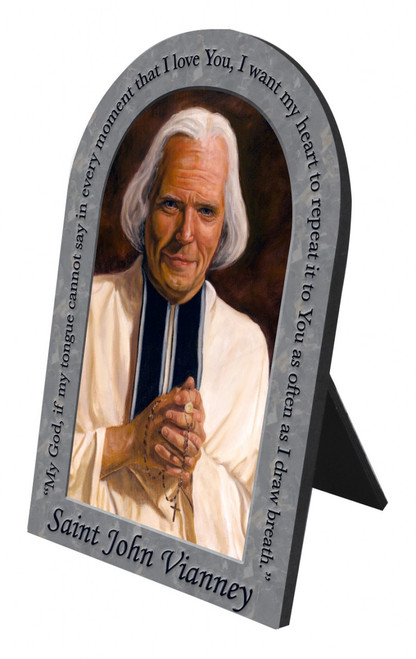 St. John Vianney Prayer Arched Desk Plaque