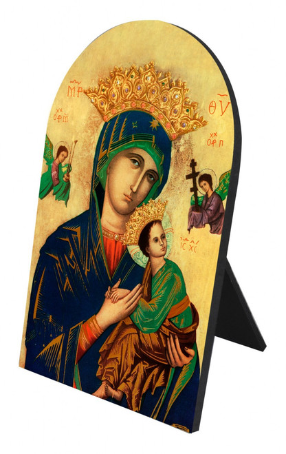 Mother of Perpetual Help Arched Desk Plaque
