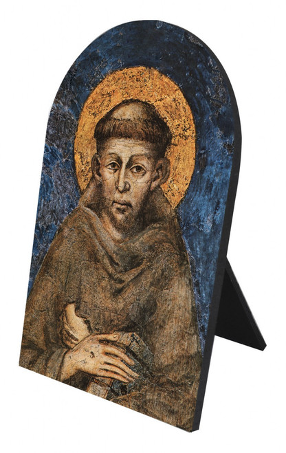 St. Francis by Cimabue Arched Desk Plaque