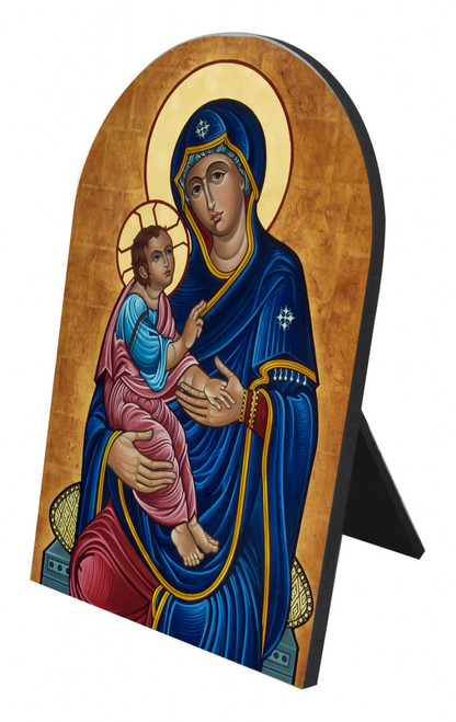 Our Lady of Good Health Arched Desk Plaque