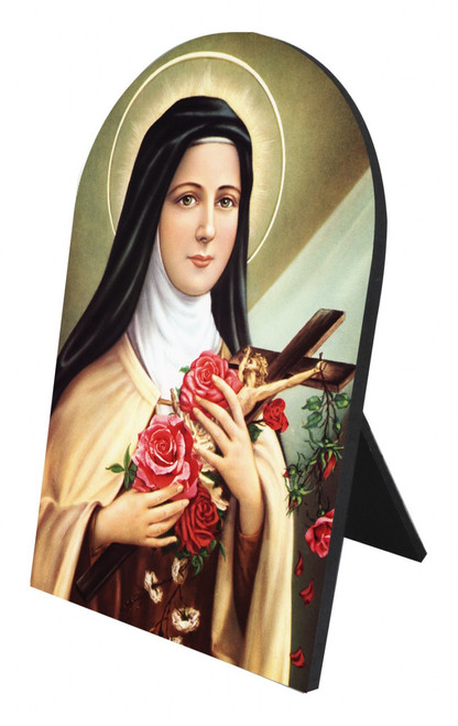 St. Therese of Lisieux Arched Desk Plaque