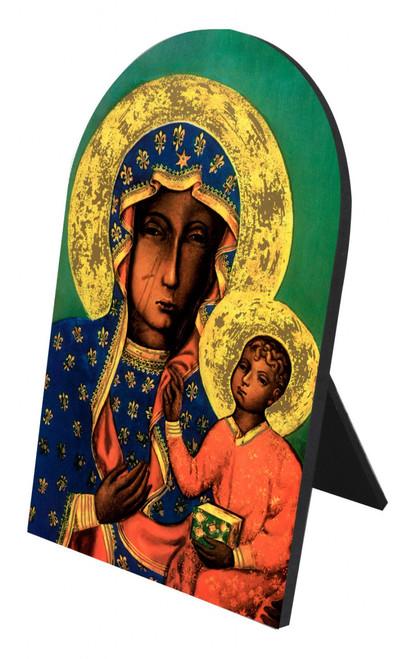 Our Lady of Czestachowa Arched Desk Plaque
