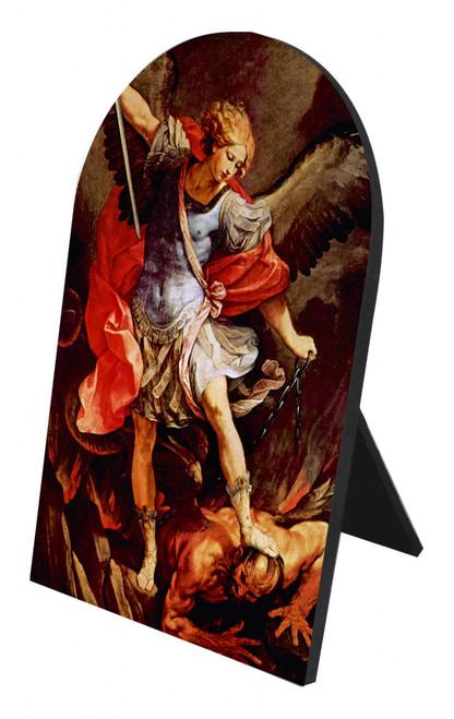 St. Michael the Archangel Arched Desk Plaque