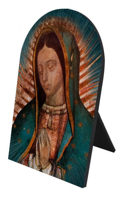 Our Lady of Guadalupe Detail Arched Desk Plaque