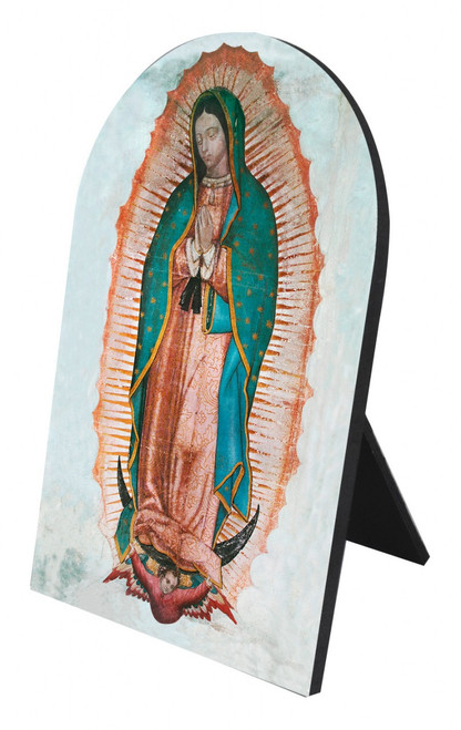 Our Lady of Guadalupe Arched Desk Plaque