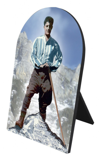 Bl. Pier Giorgio Arched Desk Plaque