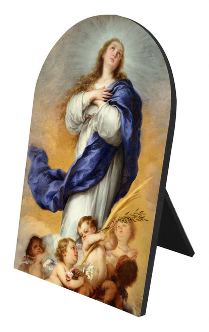 Immaculate Conception Arched Desk Plaque
