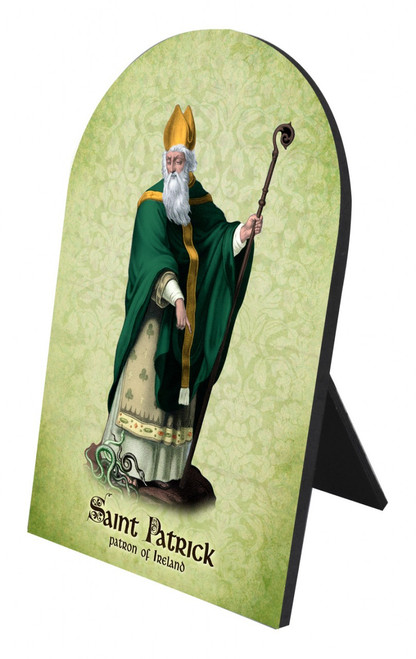 St. Patrick Arched Desk Plaque
