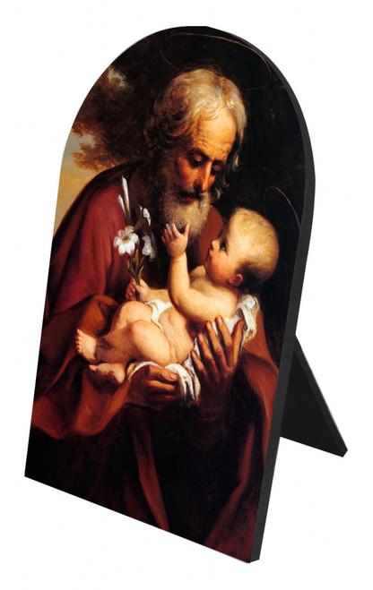 St. Joseph (Older) Arched Desk Plaque