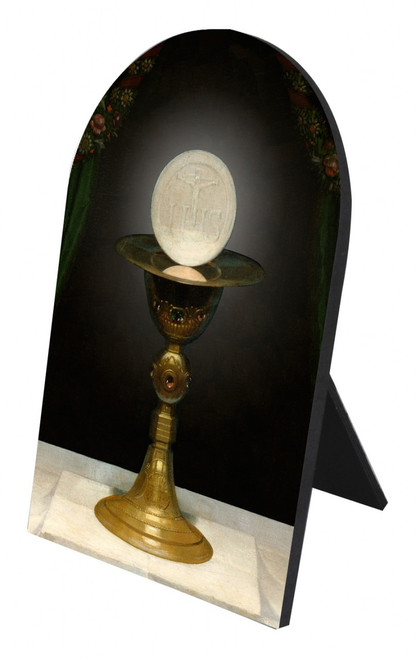 Chalice With Host Arched Desk Plaque