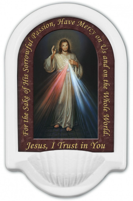 Divine Mercy Prayer Holy Water Font