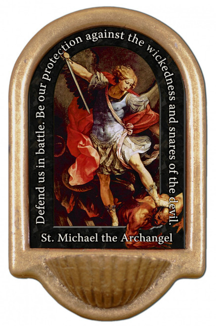 St. Michael the Archangel Prayer Holy Water Font