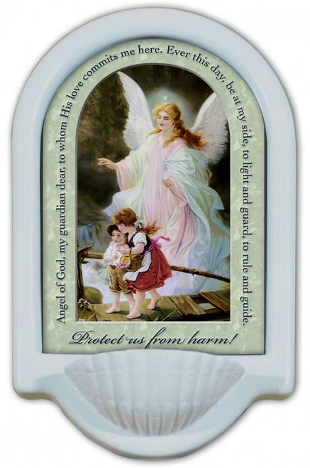 Guardian Angel Prayer Holy Water Font II