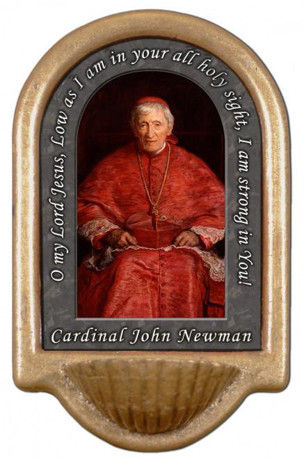 St. John Newman Prayer Holy Water Font