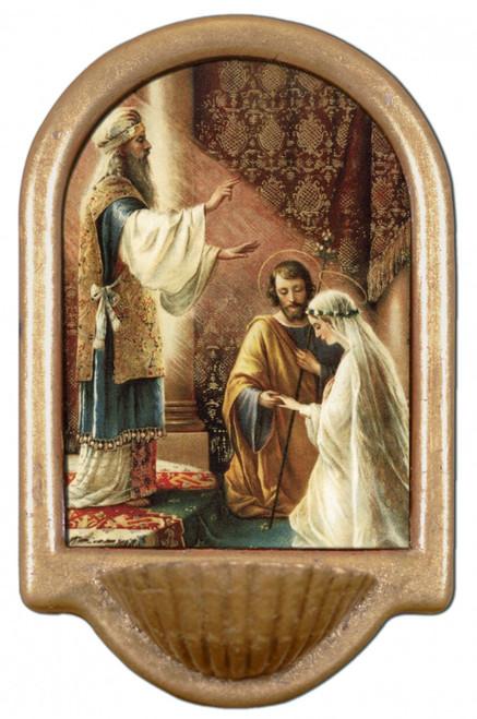 Wedding of Joseph & Mary Holy Water Font