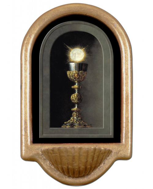 Chalice With Host Holy Water Font II