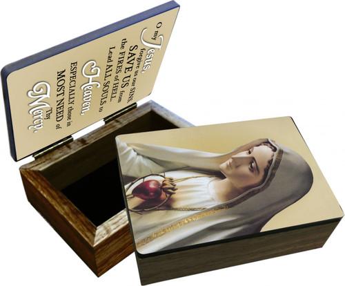 Our Lady of Fatima Keepsake Box