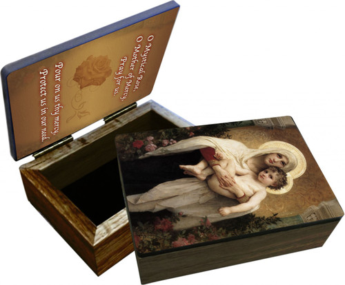 Madonna of the Roses Keepsake Box