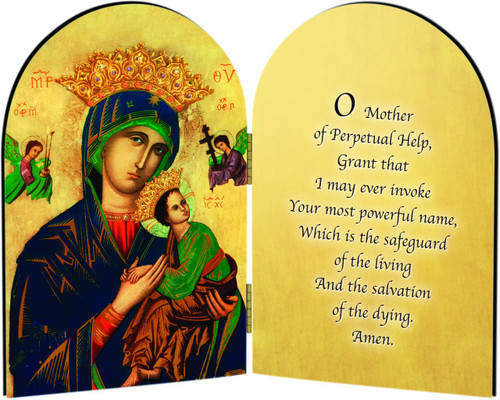 Mother of Perpetual Help Arched Diptych