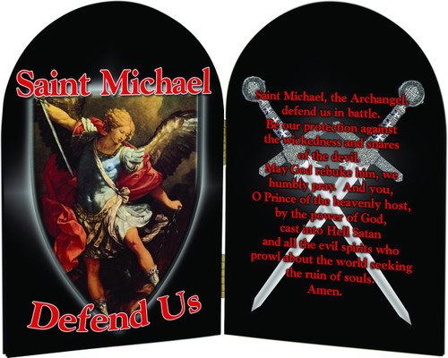 St. Michael Defend Us Arched Diptych