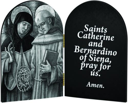 Sts. Catherine & Bernardino Arched Diptych