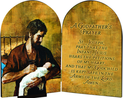 A Godfather's Prayer St. Joseph Arched Diptych