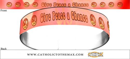 Give Peace A Chance Orange Bracelet