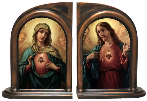Sacred and Immaculate Hearts Bookends