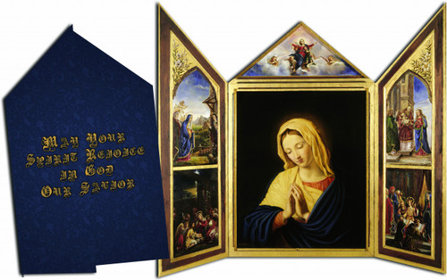 May Your Spirit Rejoice in God Our Savior Tri-fold Christmas Cards