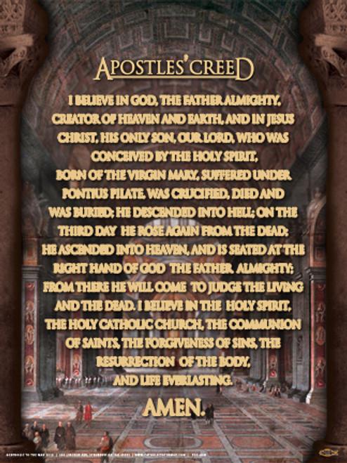 Apostles Creed Poster
