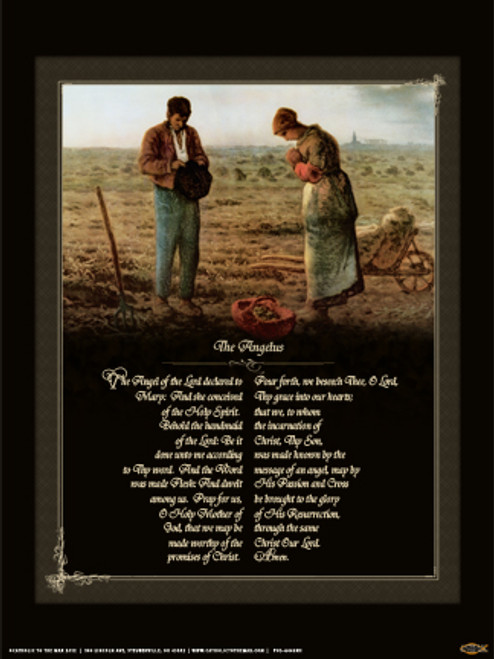 The Angelus by Millet Poster