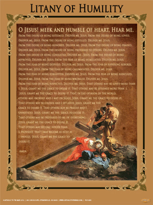 Litany of Humility Poster