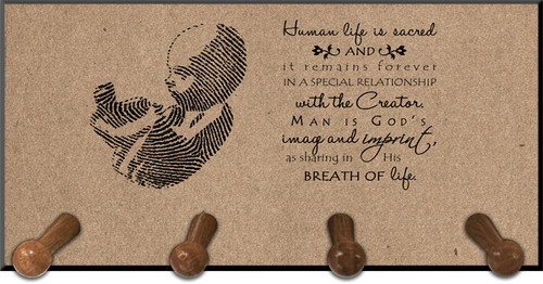 Pro-life Thumbprint Keychain Holder