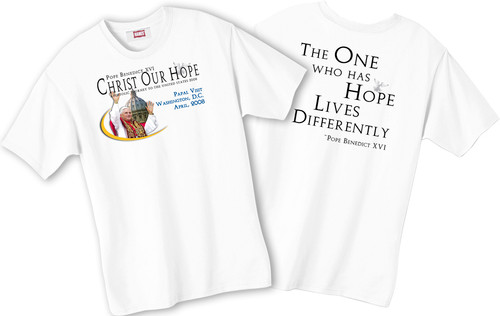 """One Who Has Hope"" Pope T-shirt"