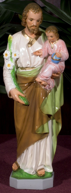 St. Joseph Painted Outdoor Statue (Call to Order)