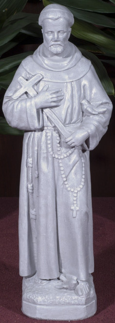St. Francis with Cross Outdoor Statue (Call to Order)