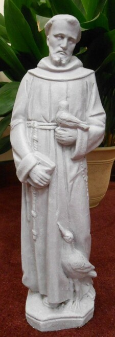 St. Francis with Bird Outdoor Statue (Call to Order)