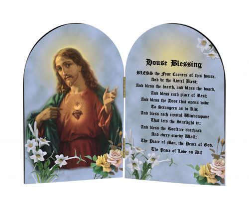 House Blessing Arched Diptych
