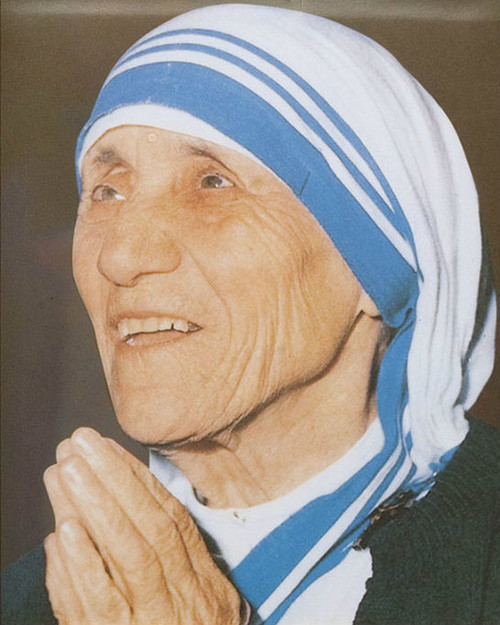 Mother Teresa Praying Postcard