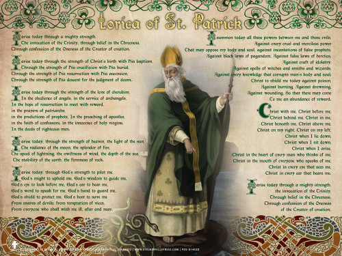 St. Patrick With Prayer Poster